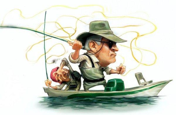 рыбак картинки рисованные