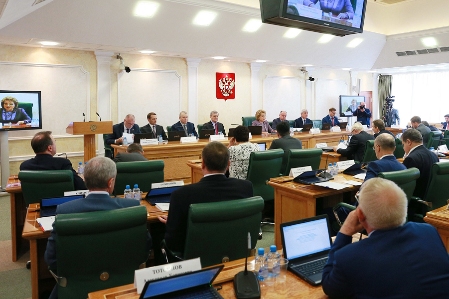 Слушания на тему Предотвращение вмешательства во внутренние дела РФ в Совете Федерации 7.06.17.png
