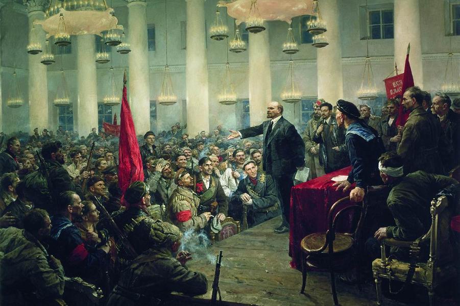 В. Серов, Ленин на II съезде Советов.png