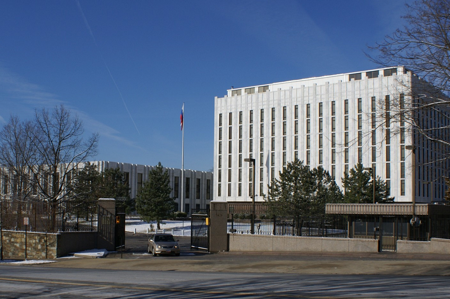 Washington D.C., Wisconsin Ave., 2650, посольство РФ в США.png