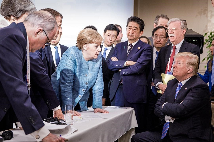 Шестеро против Трампа, G-7 в Канаде, 9.06.18.png