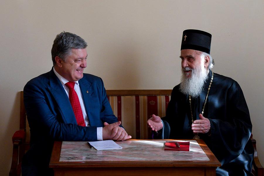 Порошенко с главой Сербской православной церкви.png