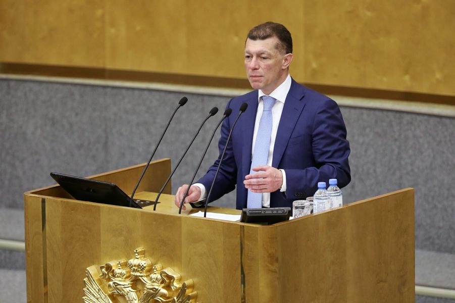 Министр труда и соцзащиты Топилин в Государственной думе.png