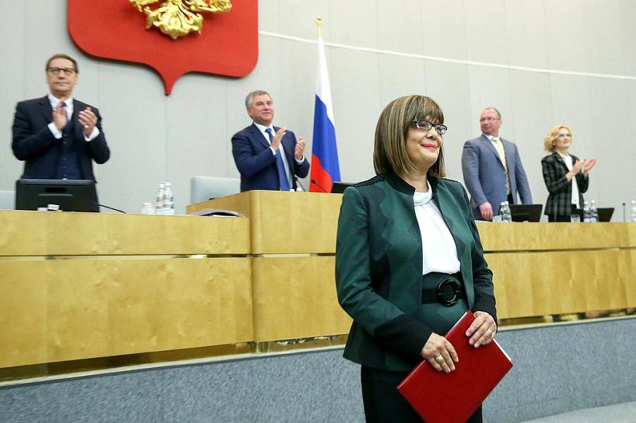 Спикер Народной скупщина Сербии Майя Гойкович в Государственной Думе.png