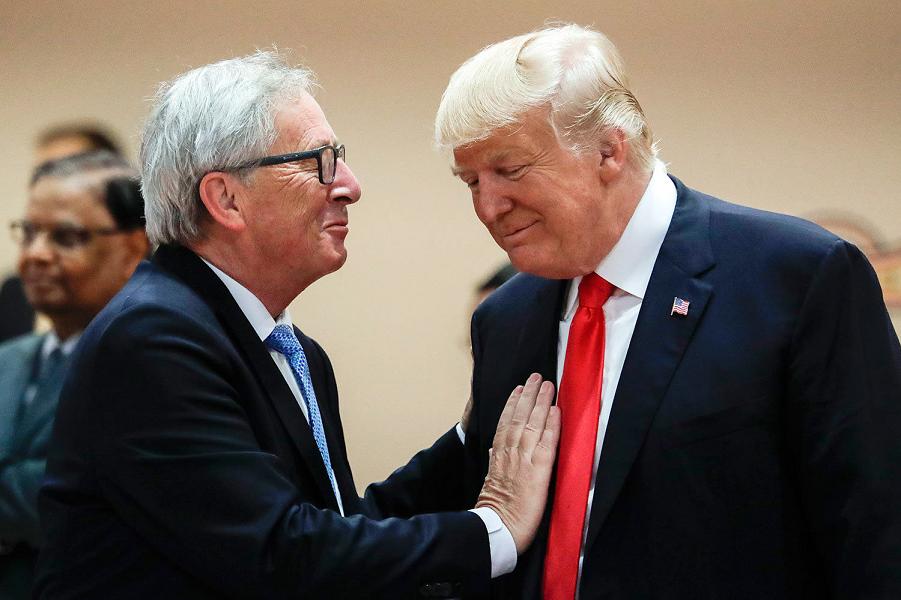 Президент ЕК Жан-Клод Юнкер и президент США Дональд Трамп.png