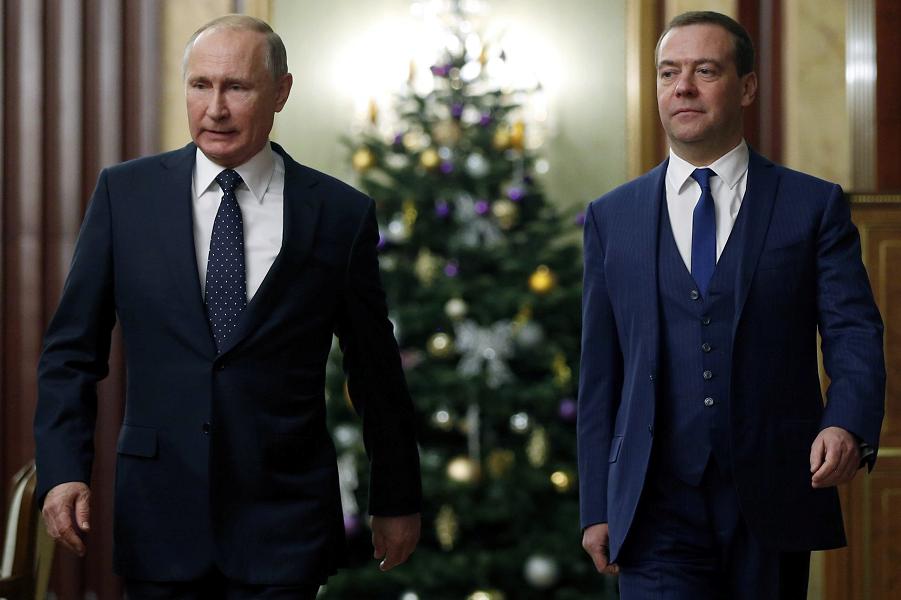 Встреча Путина с правительством Медведева, Фейсбук-1 Медведева, 26.12.18.png
