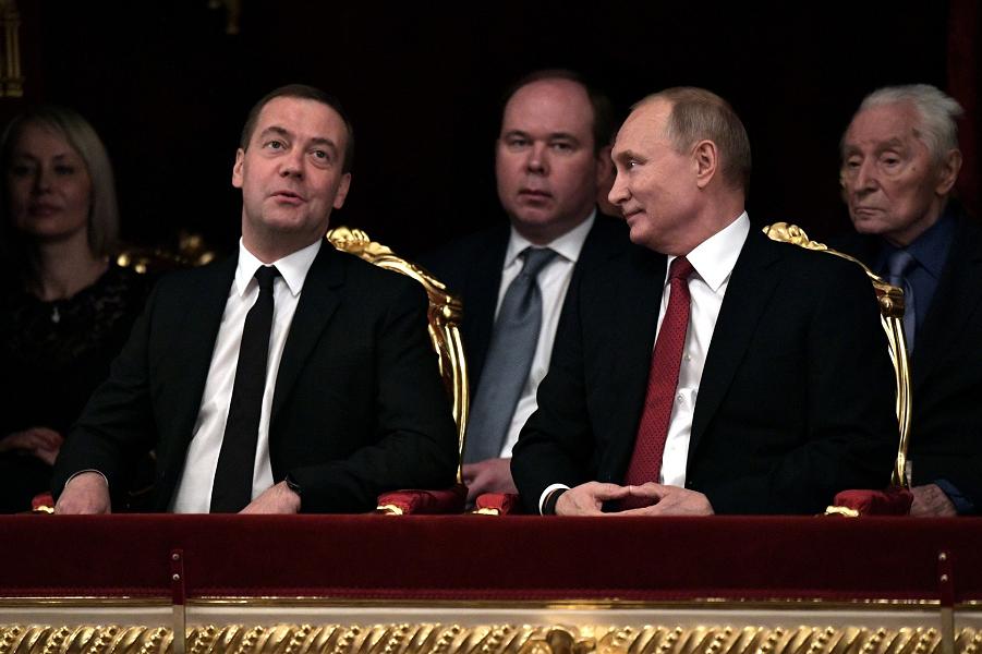 Торжественный вечер, посвящённый встрече Нового, 2019 года, Медведев, Путин, Вайно, 27.12.18.png