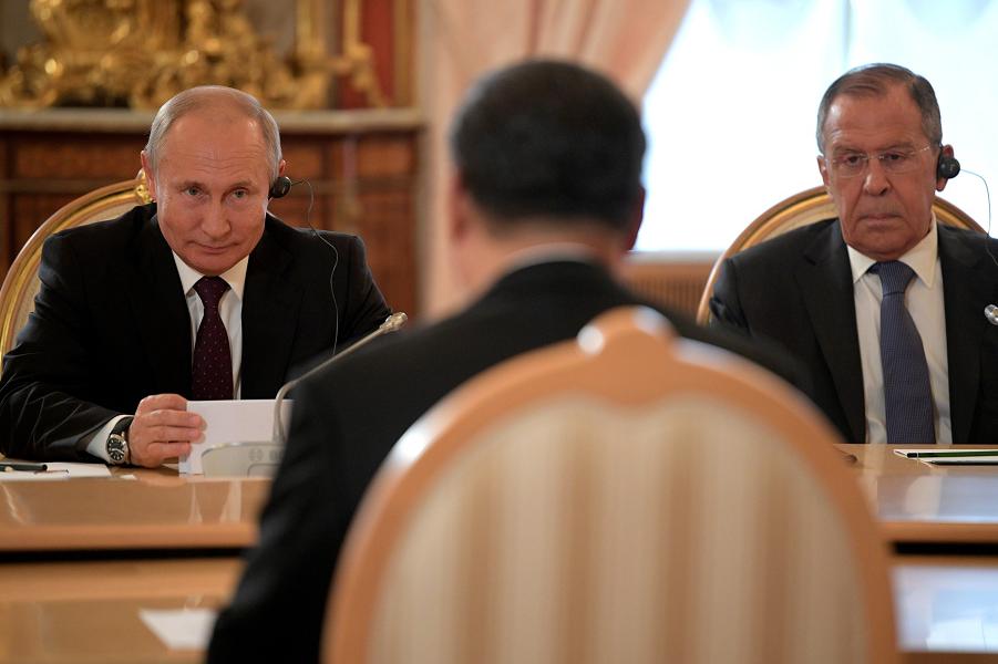 Российско-китайские переговоры, Путин, Си, Лавров, 5.06.19.png