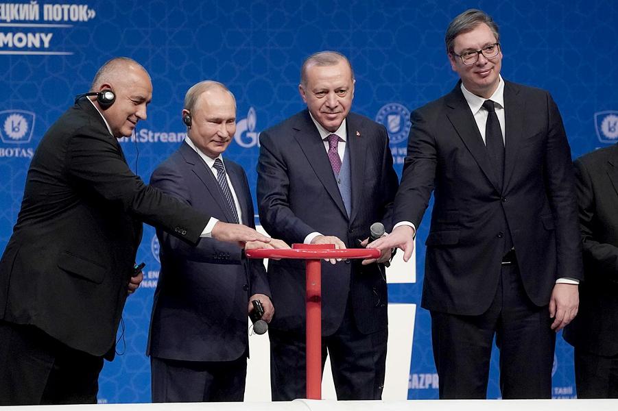 Старт Турецкого потока, премьер Болгарии, президента России, Турции и Сербии.png