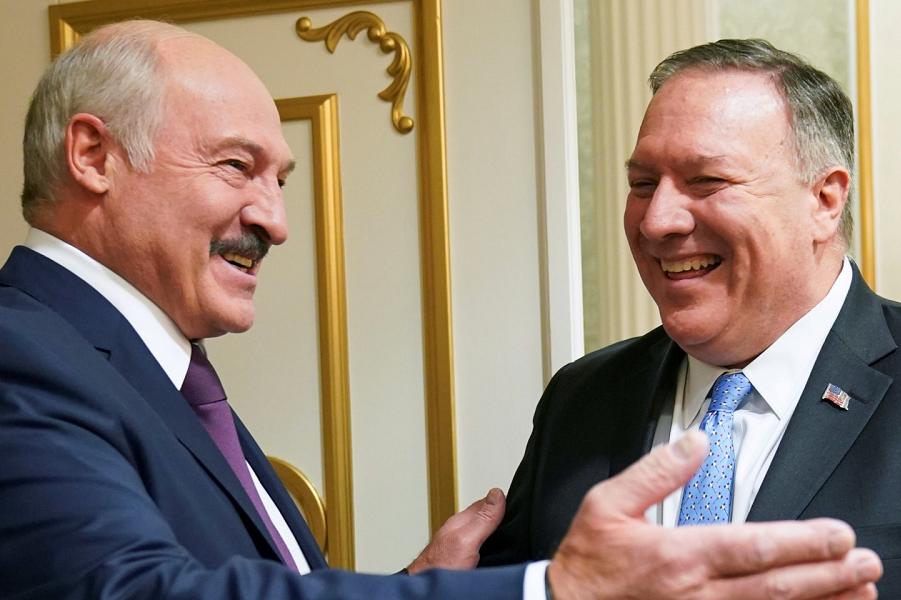 Президент Лукашенко и госсекретарь Помпео.png