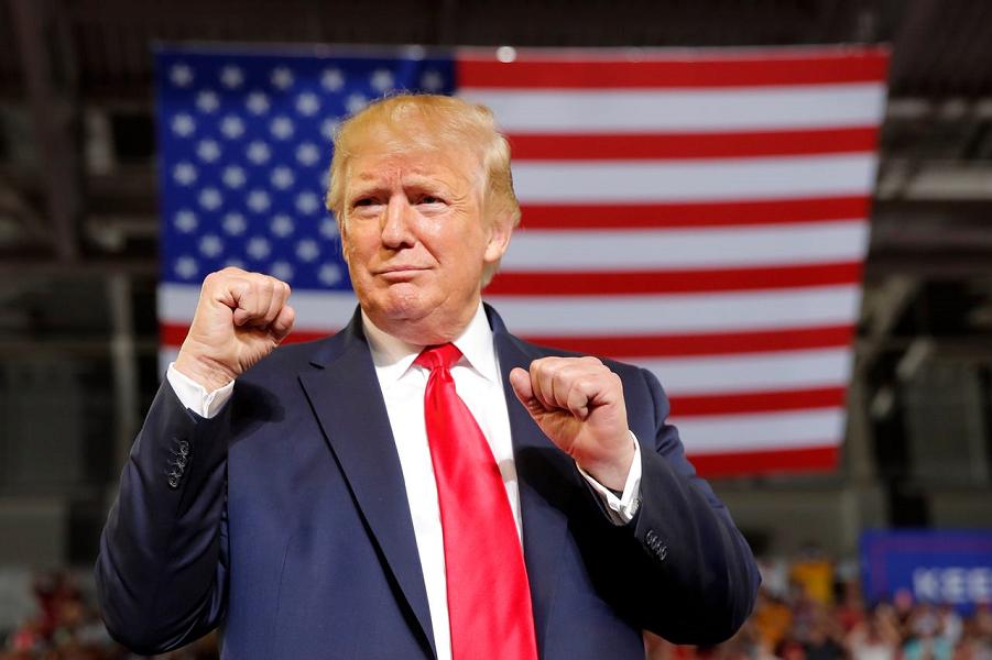 Президент США Дональд Трамп объявляет о своей предвыборной кампании, 18.06.2019, Carolyn Kaster, AP.png