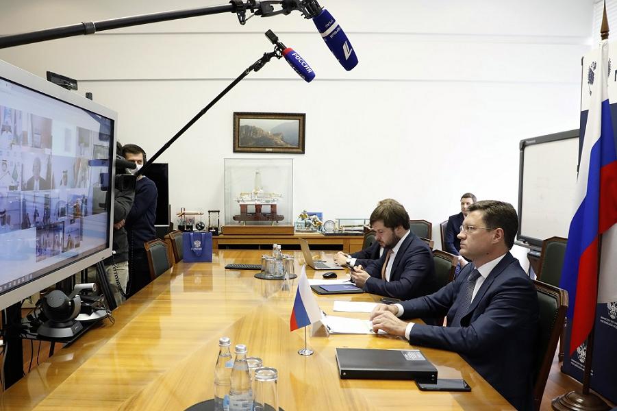 Видеоконференция ОПЕК-плюс, министр энергетики РФ Александр Новак.png