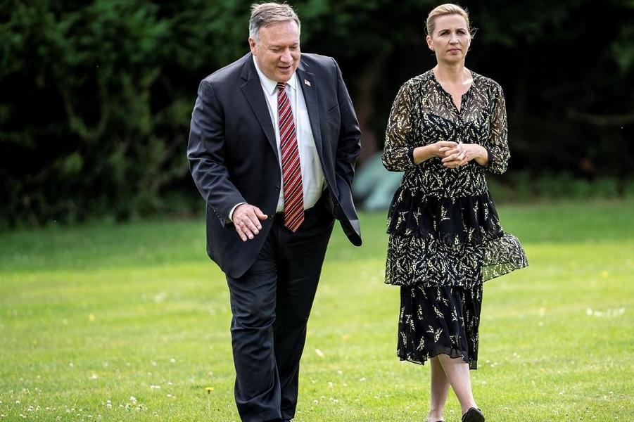 Госсекретарь Майк Помпео с премьером Дании, 22.07.20.png