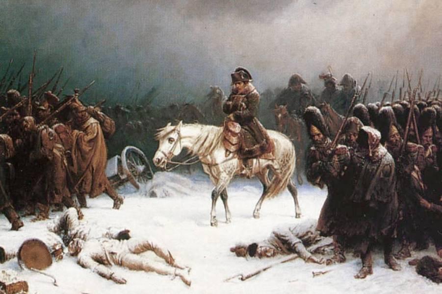 Адольф Нортен, Отступление Наполеона.jpg