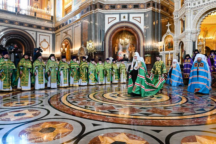 Праздник Входа Господня в Иерусалим, патриарх Кирилл.png