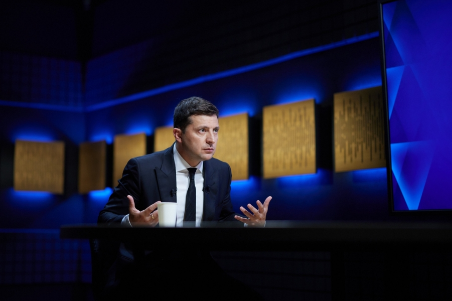 Зеленский, интервью телеканалу Дом, 5.08.21.jpg