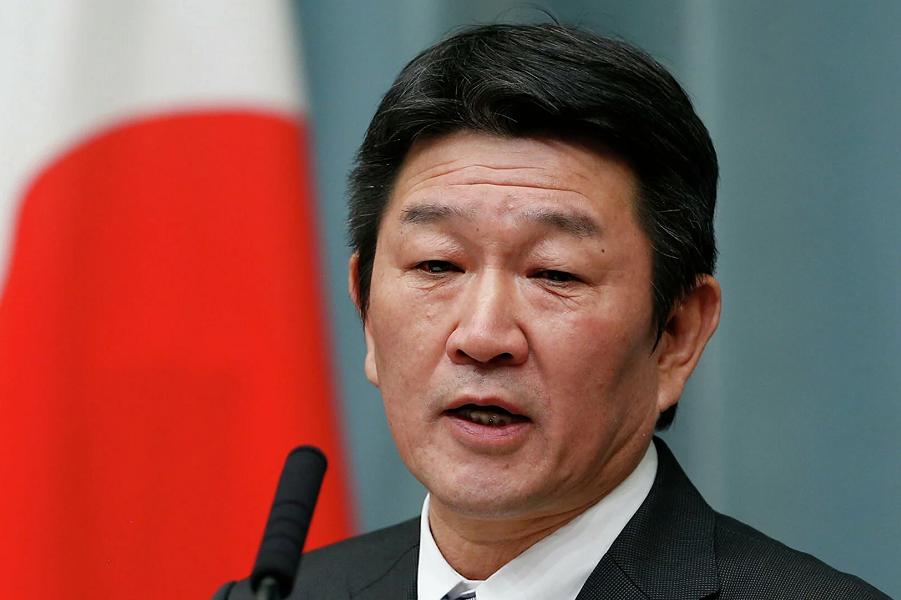Министр иностранных дел Японии Тосимицу Мотэги.png