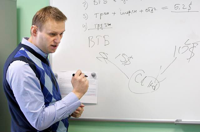 Навальный рисует