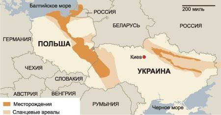 Месторождения-сланцевого-газа-Польши-и-Украины