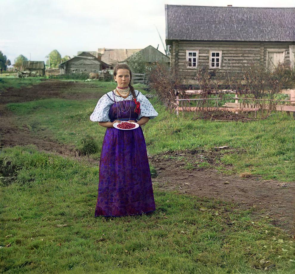 Деревня Топорня. Вологодская губерния, 1909 год
