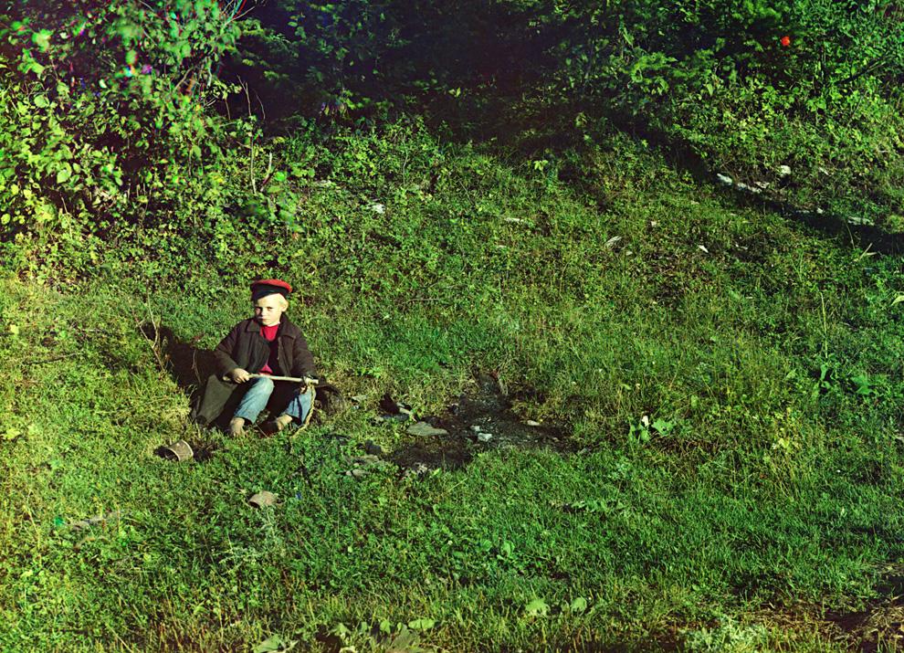 Пастух на реке Сим.