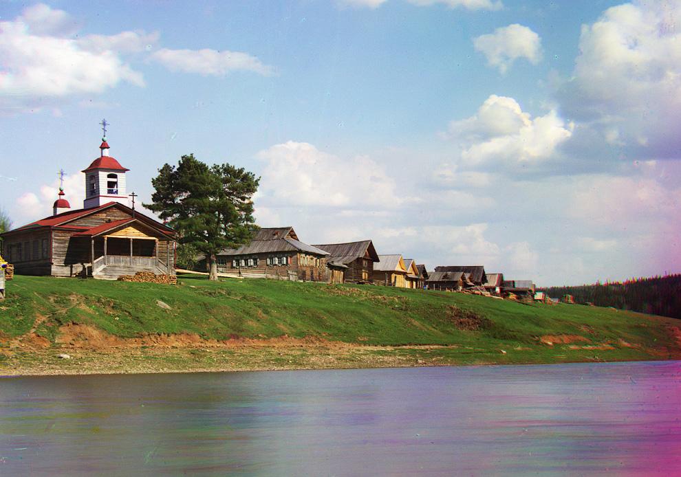 Пристань реки Межевая Утка, 1912