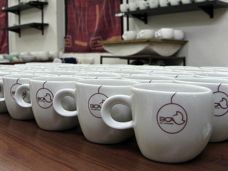 Cappuccino bögrék a BCA Hungary számára