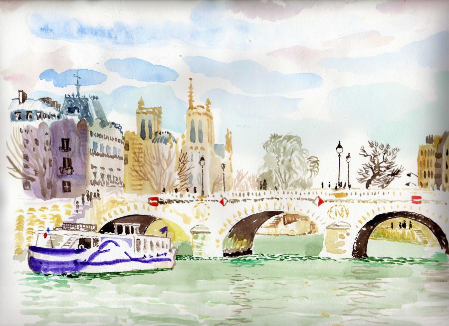 Мост Сен-Мишель ум