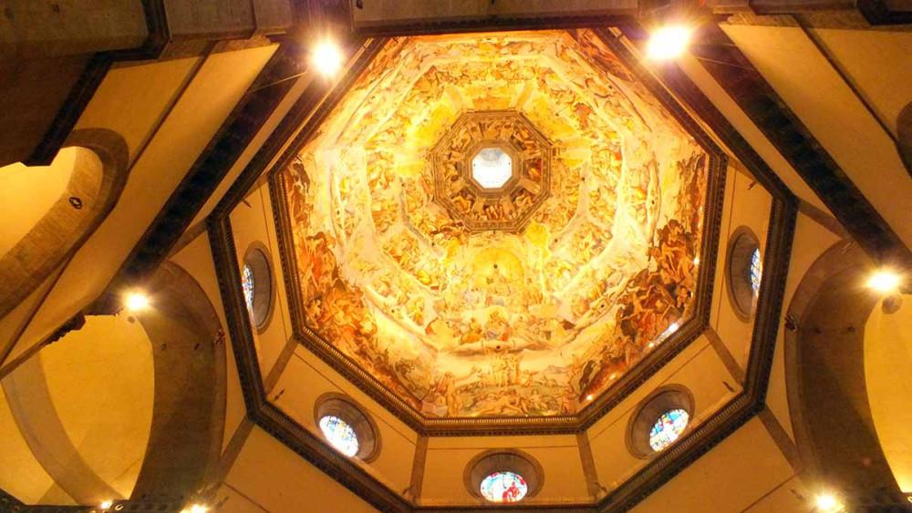 Купол Дуомо изнутри