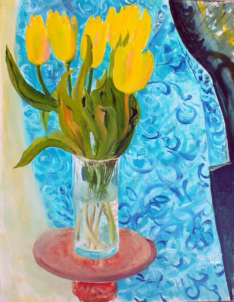 Желтые тюльпаны 2014 х.,м 45х35