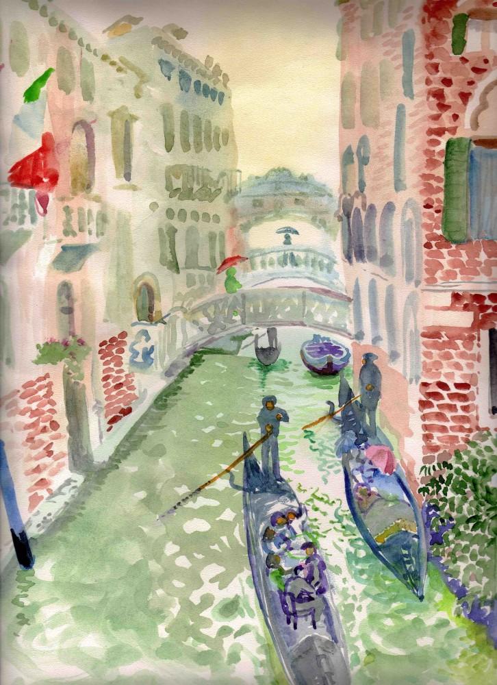 Венеция Гондолы ум
