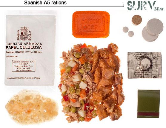 Испанские сухие пайки