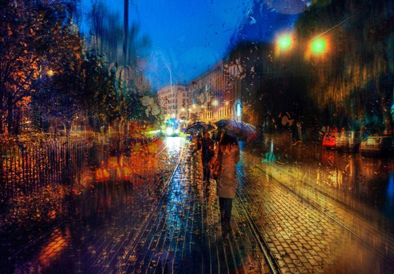 Художник что рисует дождь