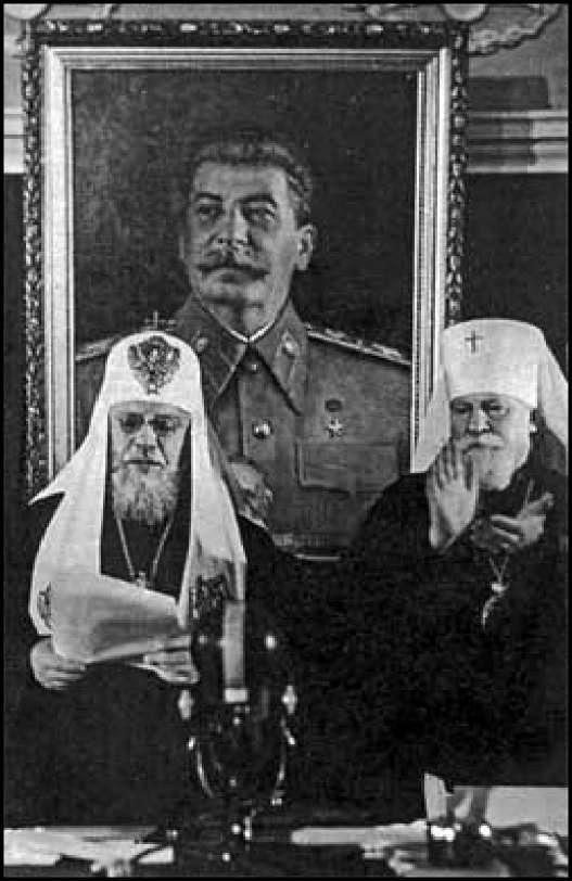Патриарх РПЦ Алексий I поздравляет Иосифа Сталина с 70-летием