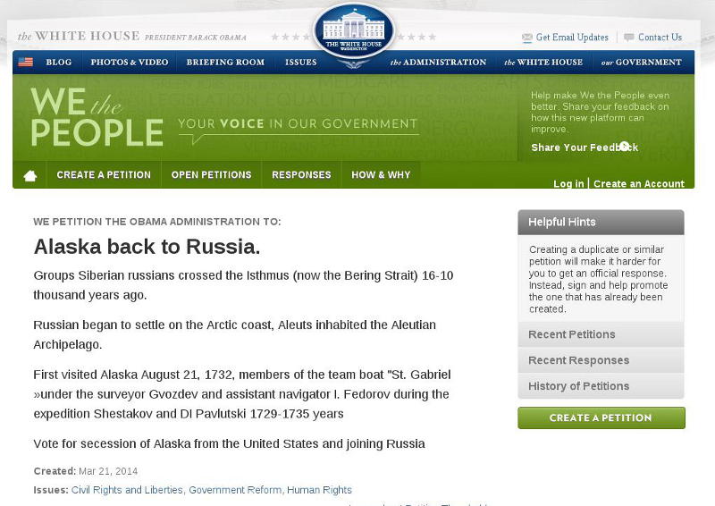 Alaska back to Russia