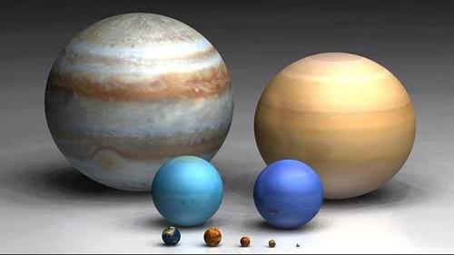 Сравнение размеров планет СС