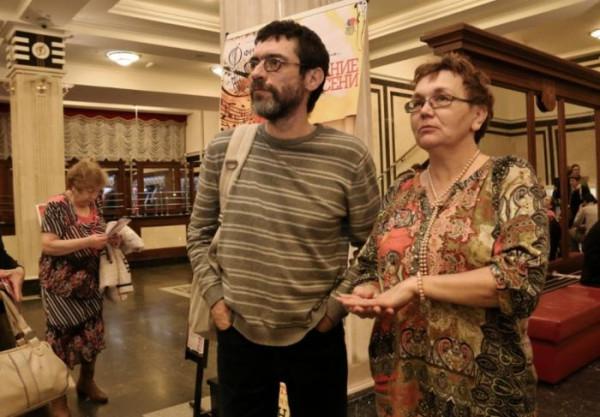 Виктор Корб и Татьяна Ильина на концерте Фабио Мастранджело в Омске