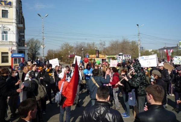 Первая монстрация в Омске в 2010 году