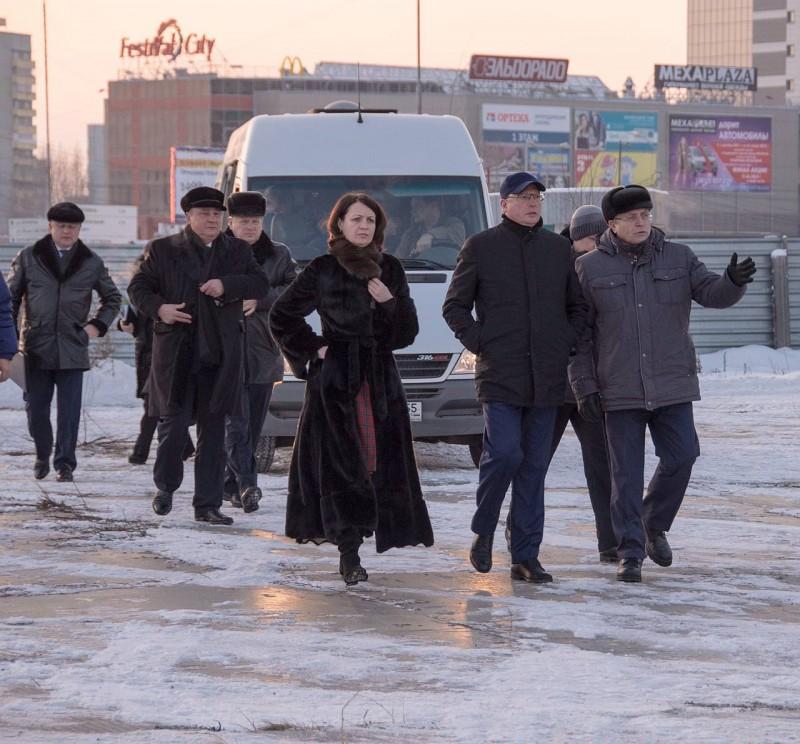 Мэр Омска Оксана Фадина инспектирует омское метро