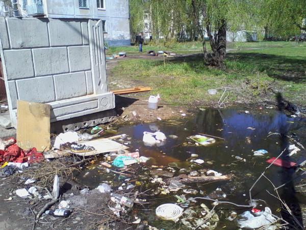 мусорка в омском дворе