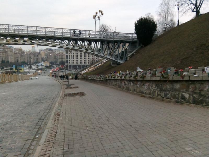 Киев. Мемориал «Герои Небесной сотни»