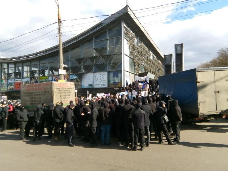 Силовая поддержка предвыборного митинга на киевском Подоле © Виктор Корб, 2019