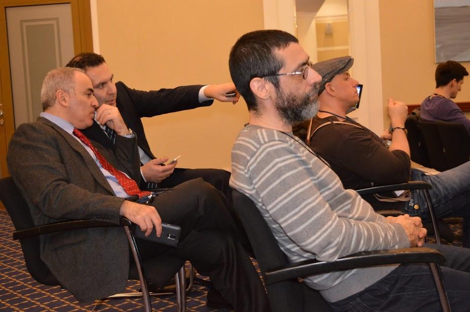Гарри Каспаров, Иван Тютрин, Виктор Корб на I Форуме свободной России. Фото © Георгий Саркисян, 2016