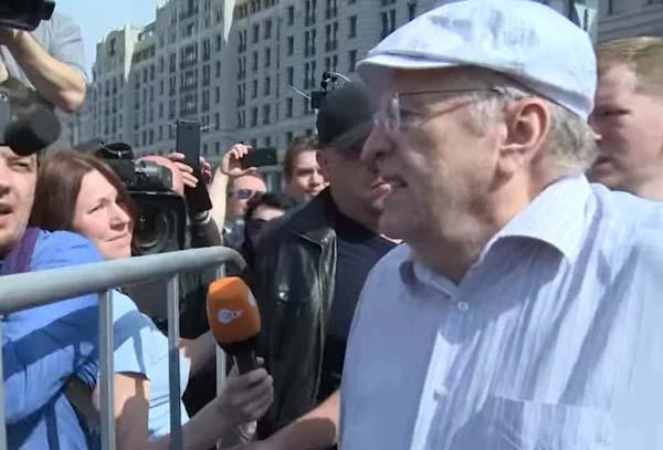 Жириновский на митинге Навального 9 сентября