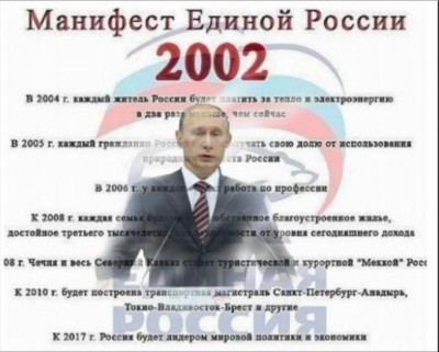 Манифест партии Единая Россия