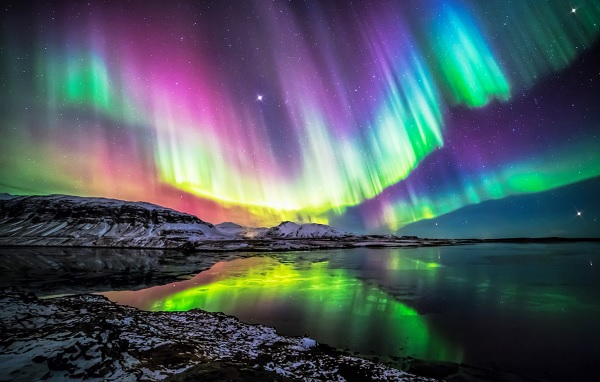 Живое видео яркого Северного сияния в ночь 7 - 8 января 2021 года