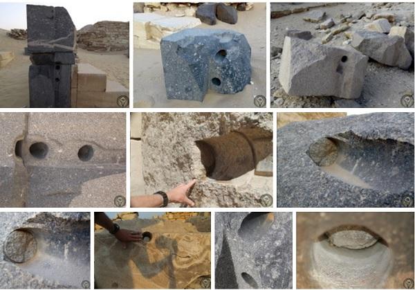 Удивительные следы обработки гранита в Абусире (Египет)