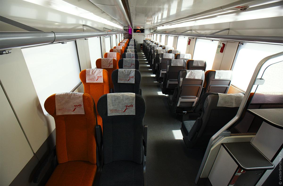 Сидячие места в поезде фото схема