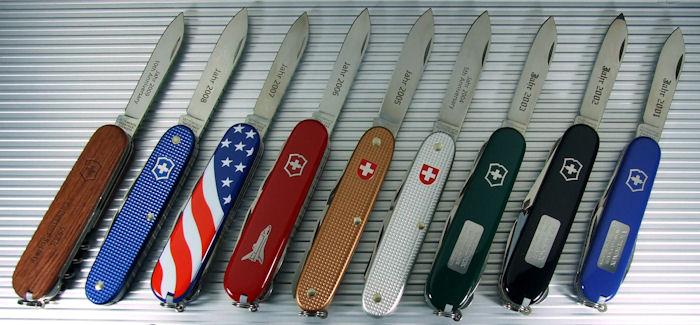 Ограниченно выпускаемые серии и модели ножей Викторинокс