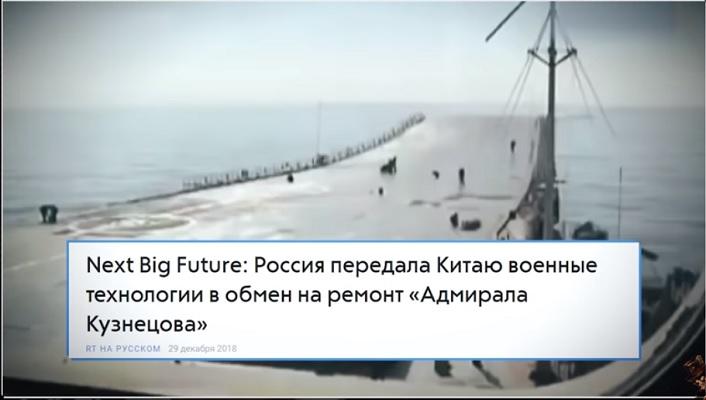 Россия передала Китаю военные технологии, в обмен на ремонт «Адмирала Кузнецова»